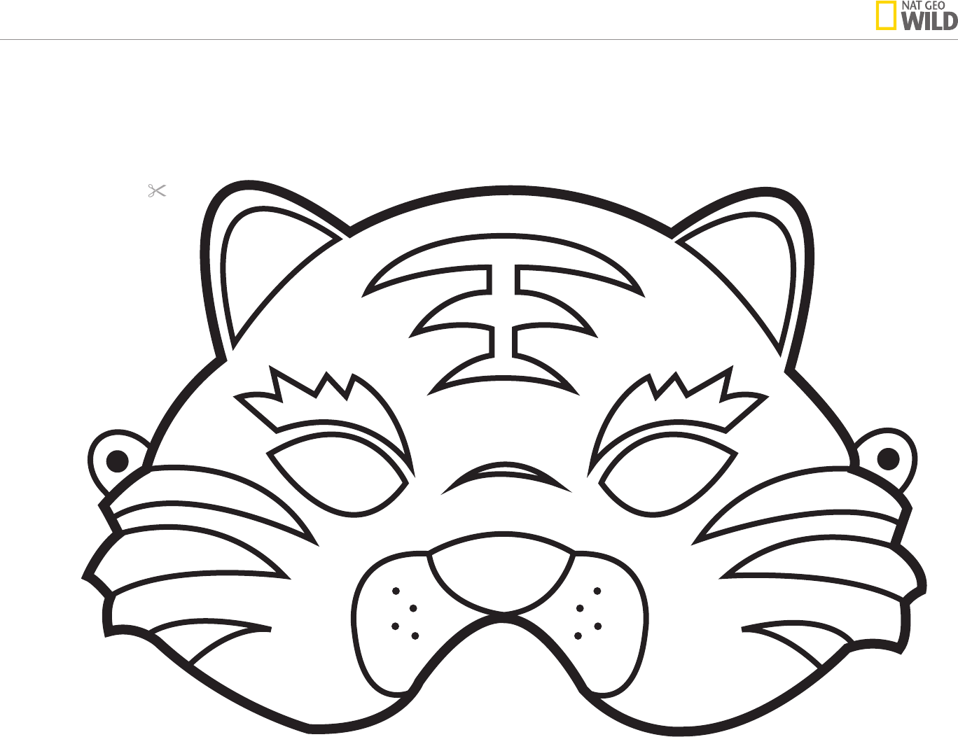 download animal mask template for free