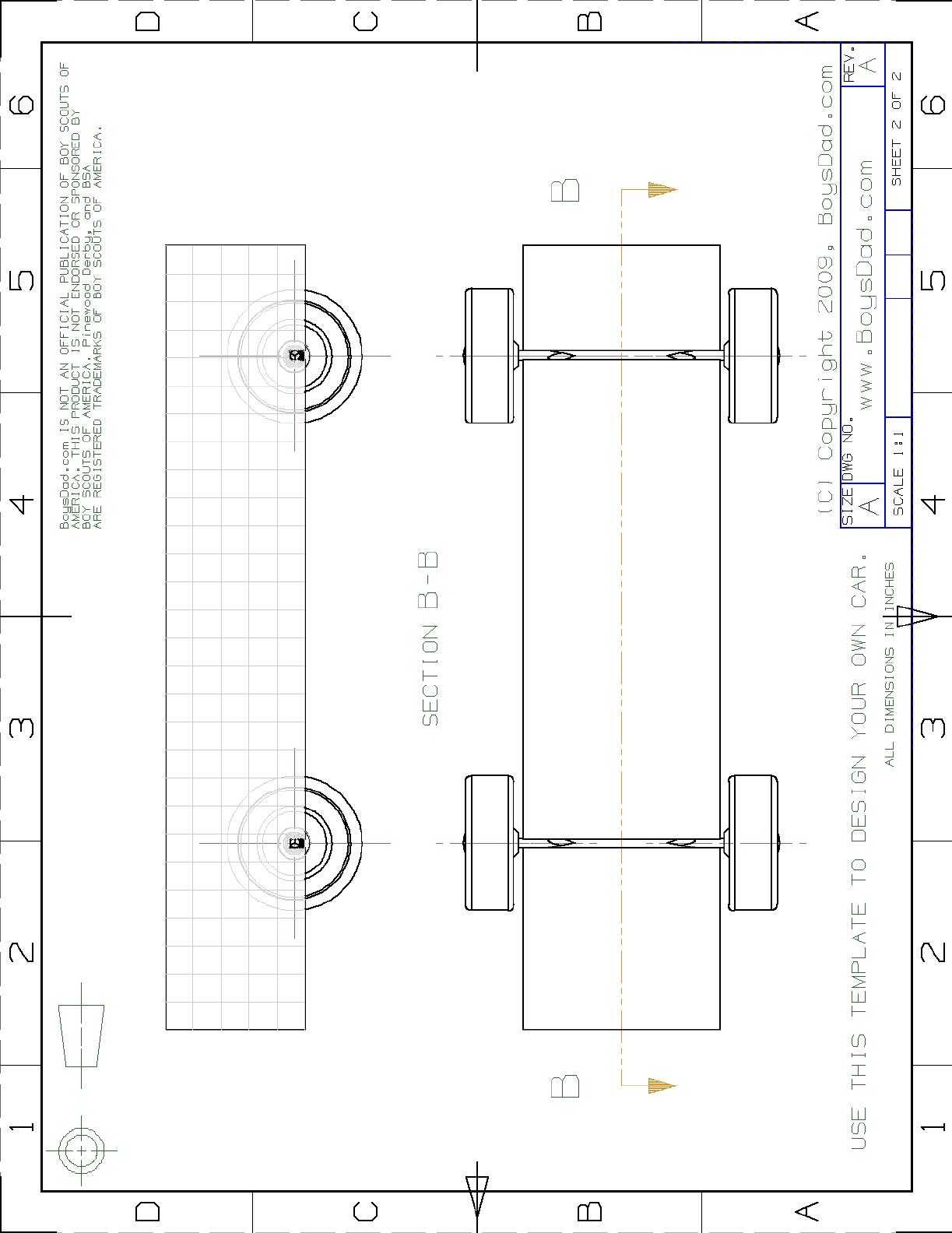 Blank Car Derby Template PDF Format Download