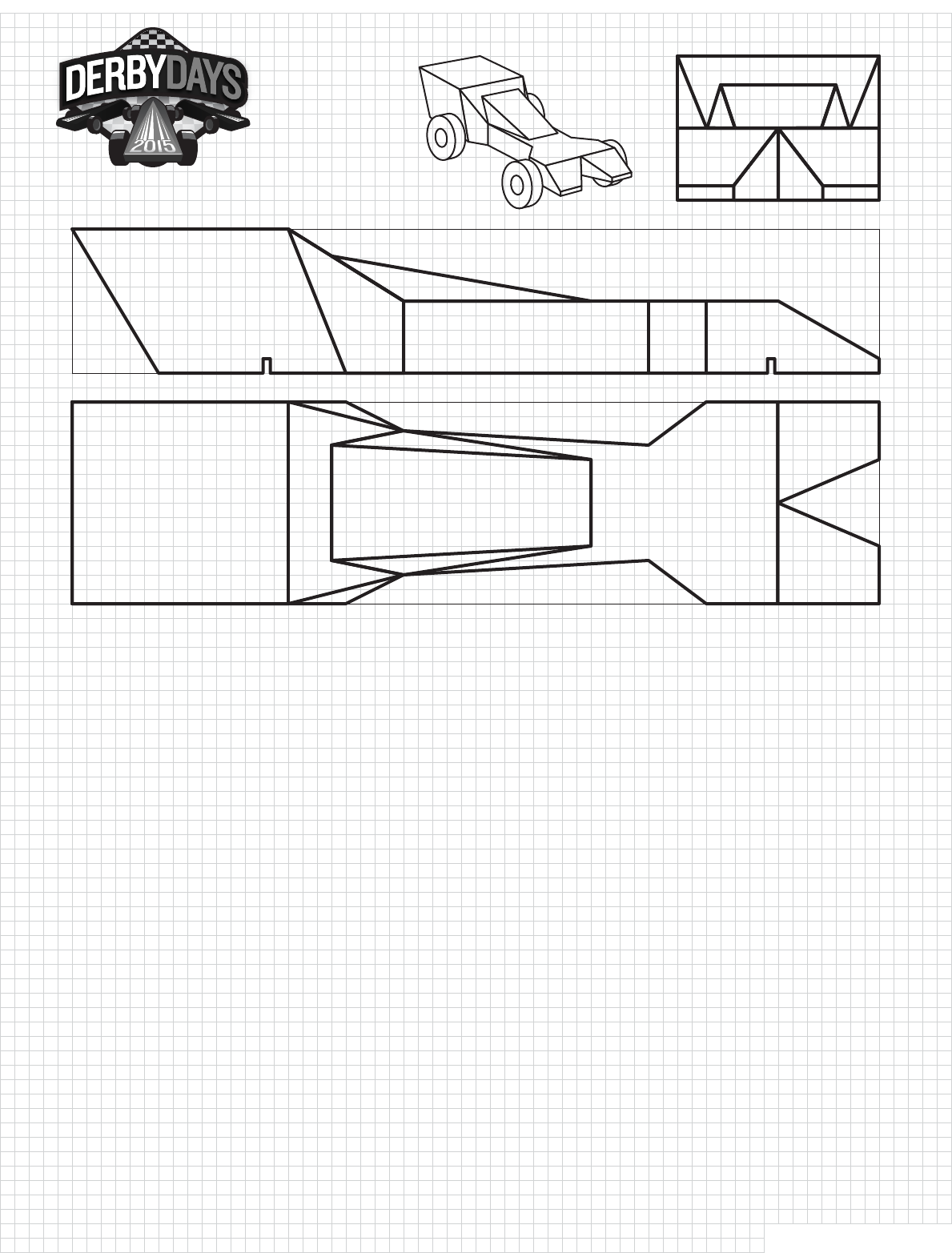 Comet Derby Car Template Design Download