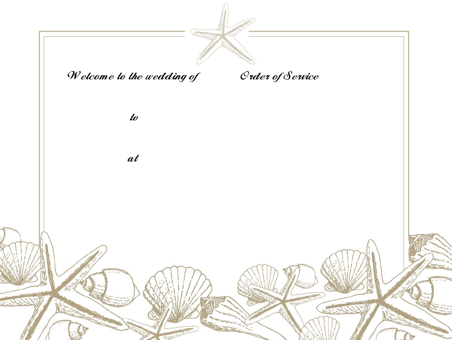 Download Beach Wedding Program Template Free PDF