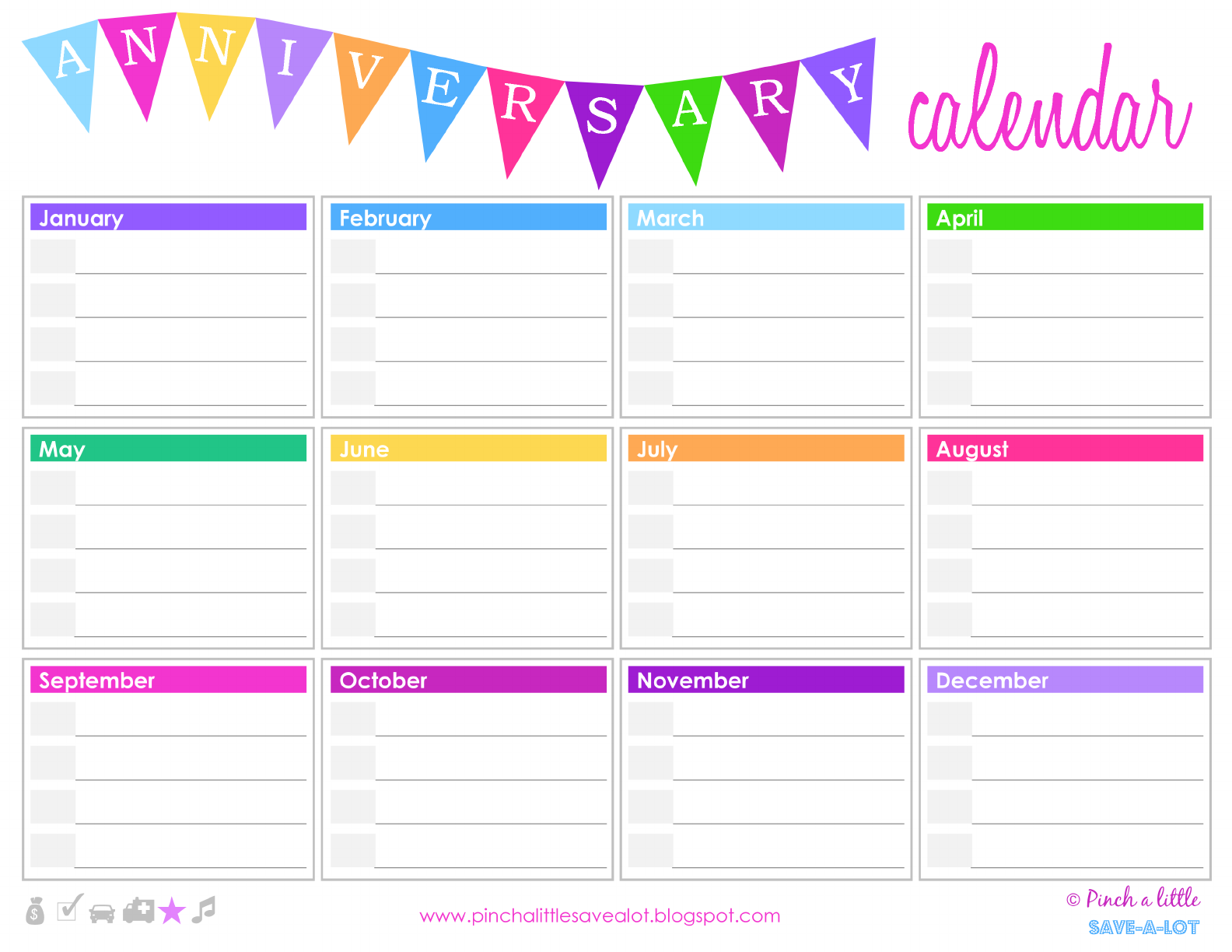 Free Birthday Calendar Template Download