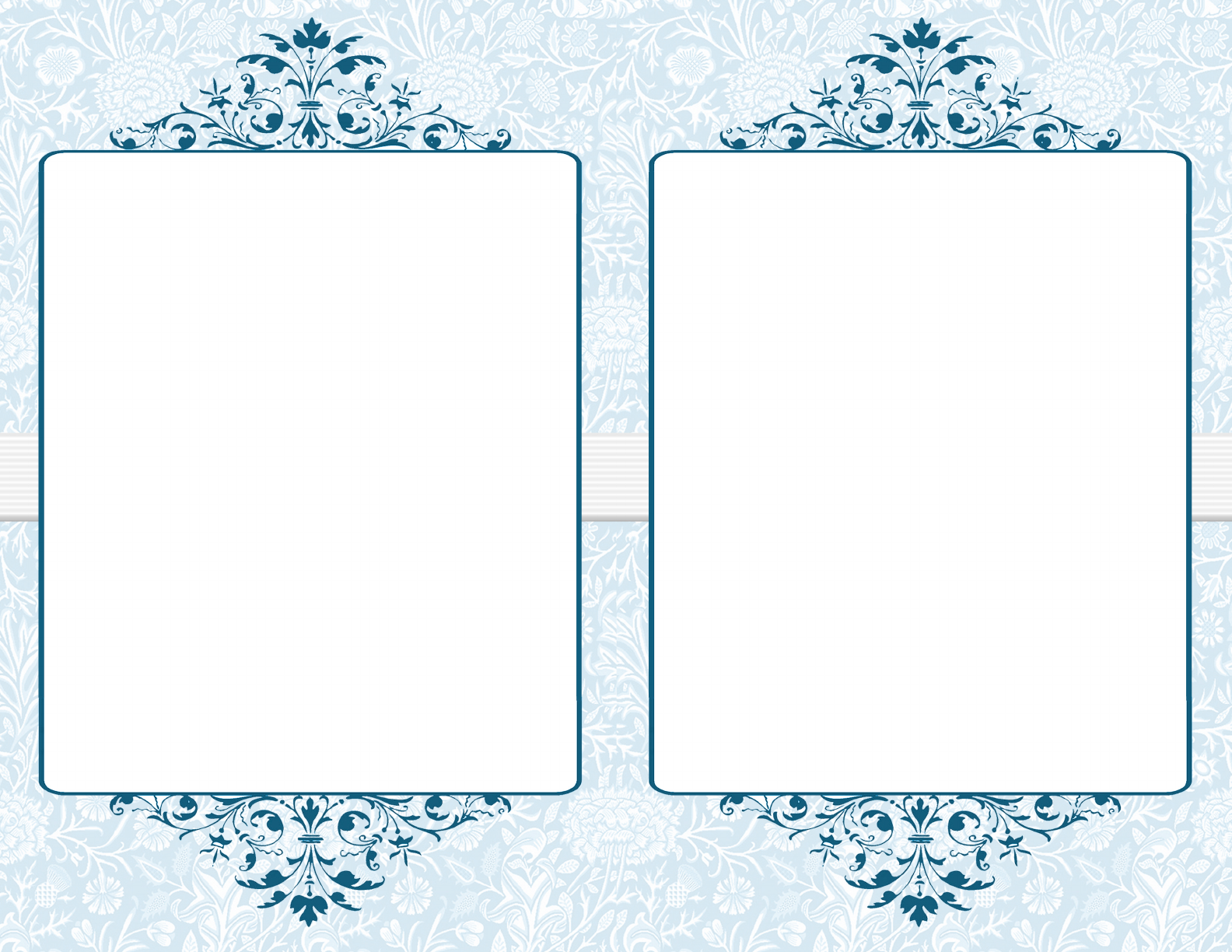 Free Download Blue Victortian Flat Program Template Download