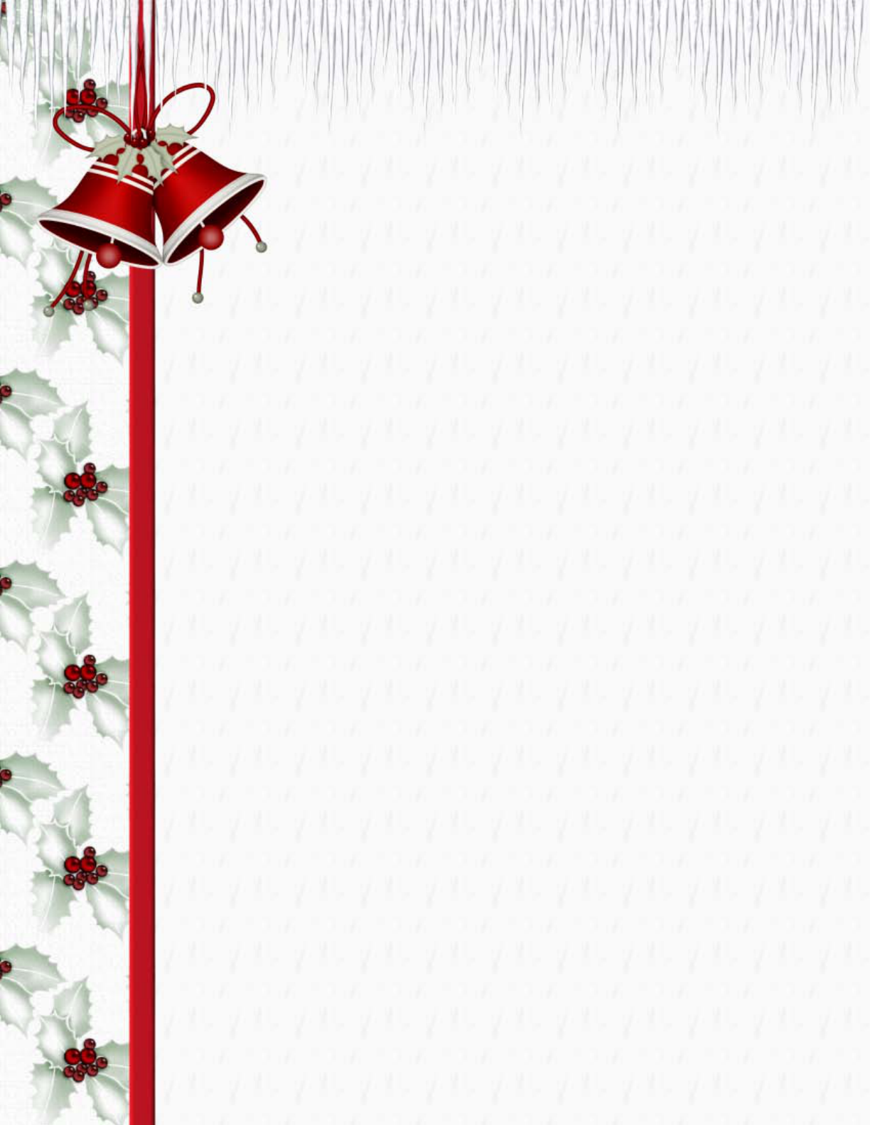 Free Printable Christmas Stationery Template