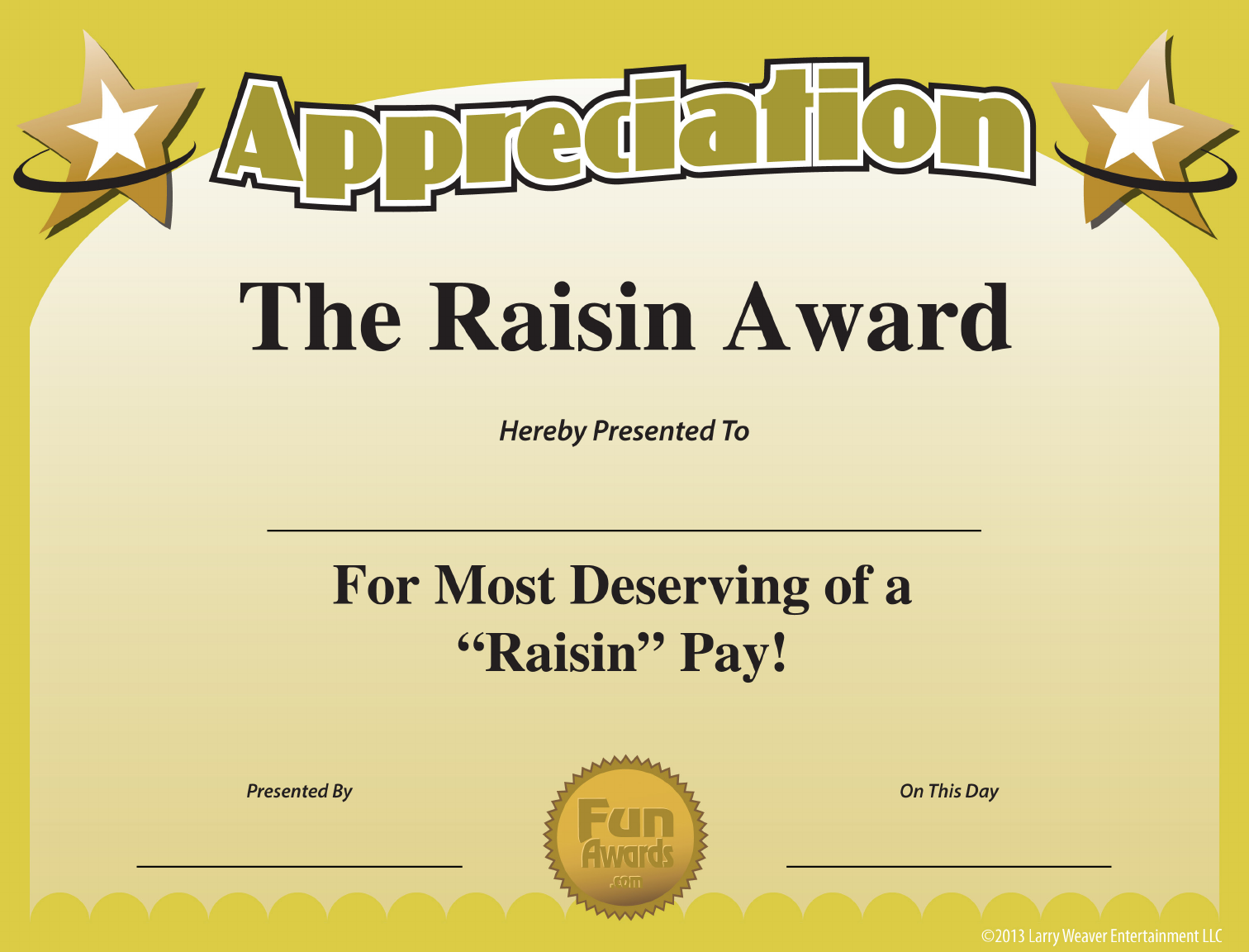 Download Funny Appreciation Certificate For Free Tidytemplates