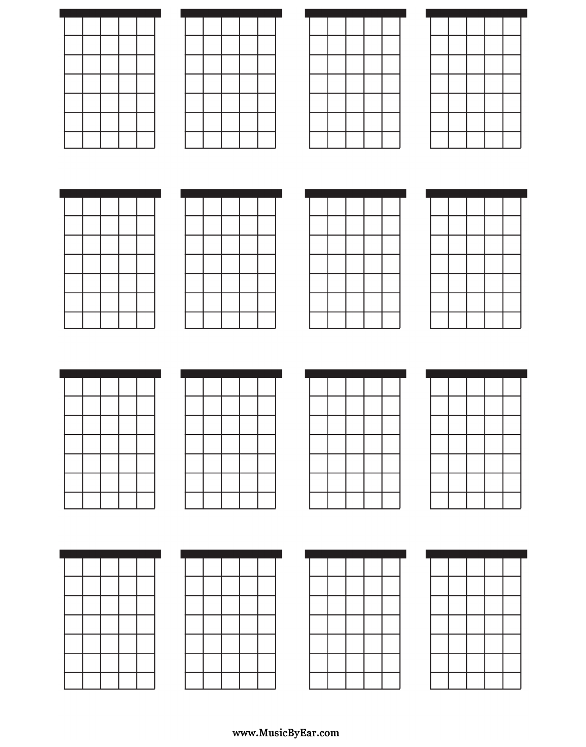download large blank guitar chord chart for free
