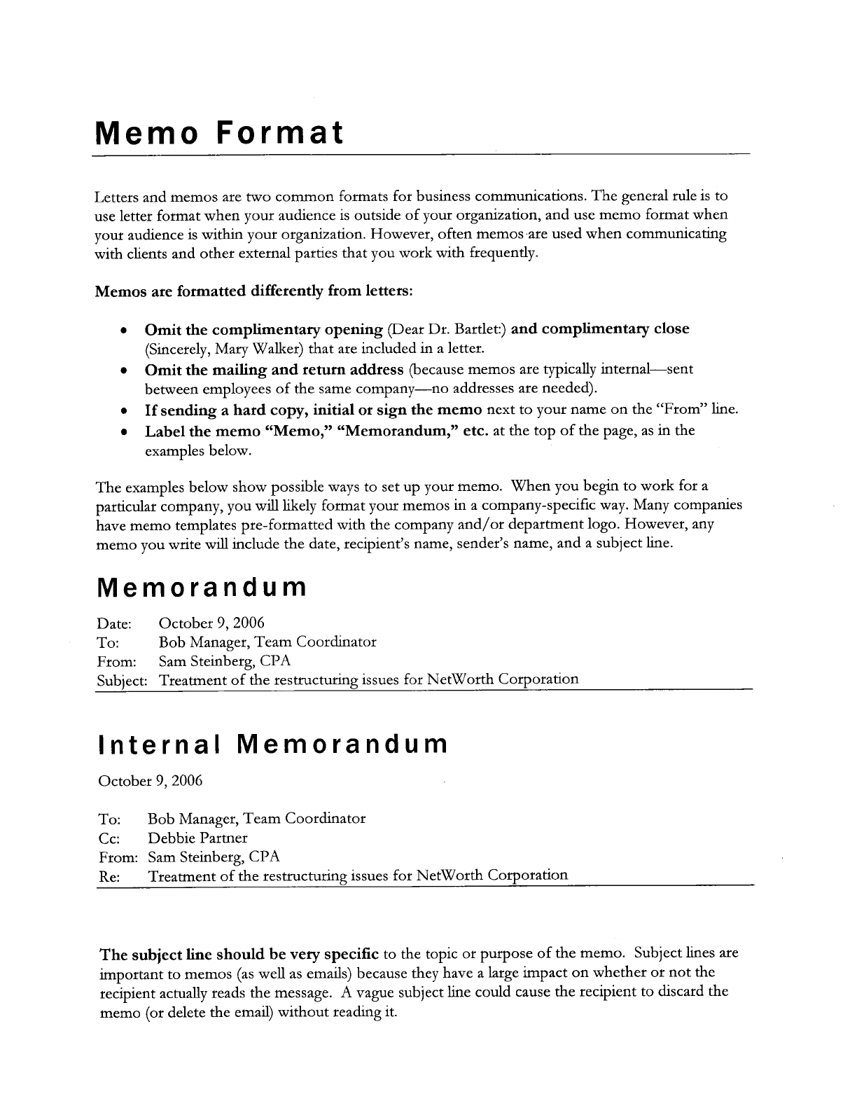 Download Memo Format Template for Free - TidyTemplates