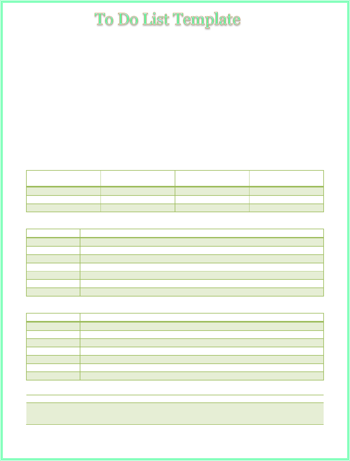 download multi task to do priority list template for free