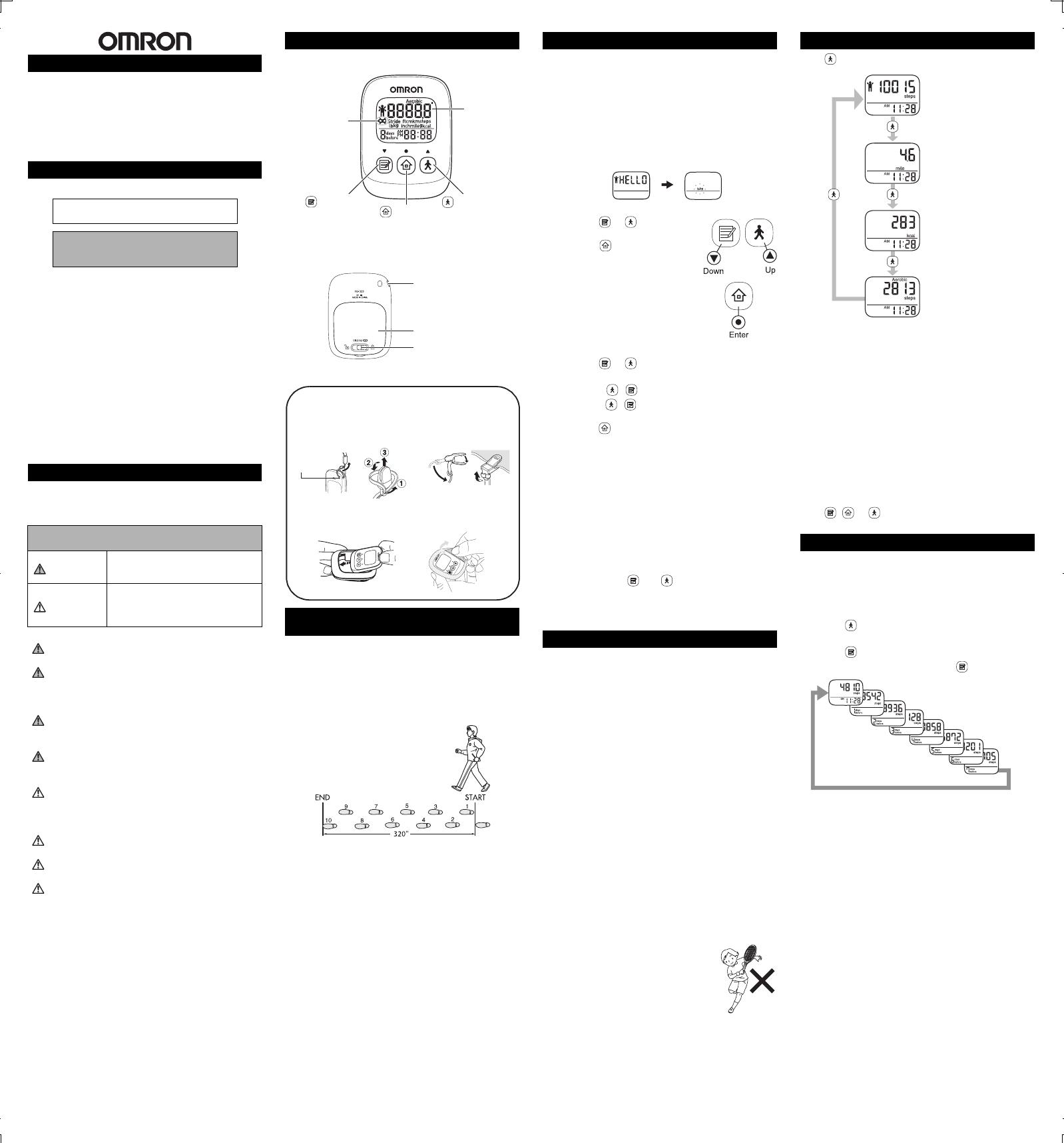omron alvita ultimate pedometer manual