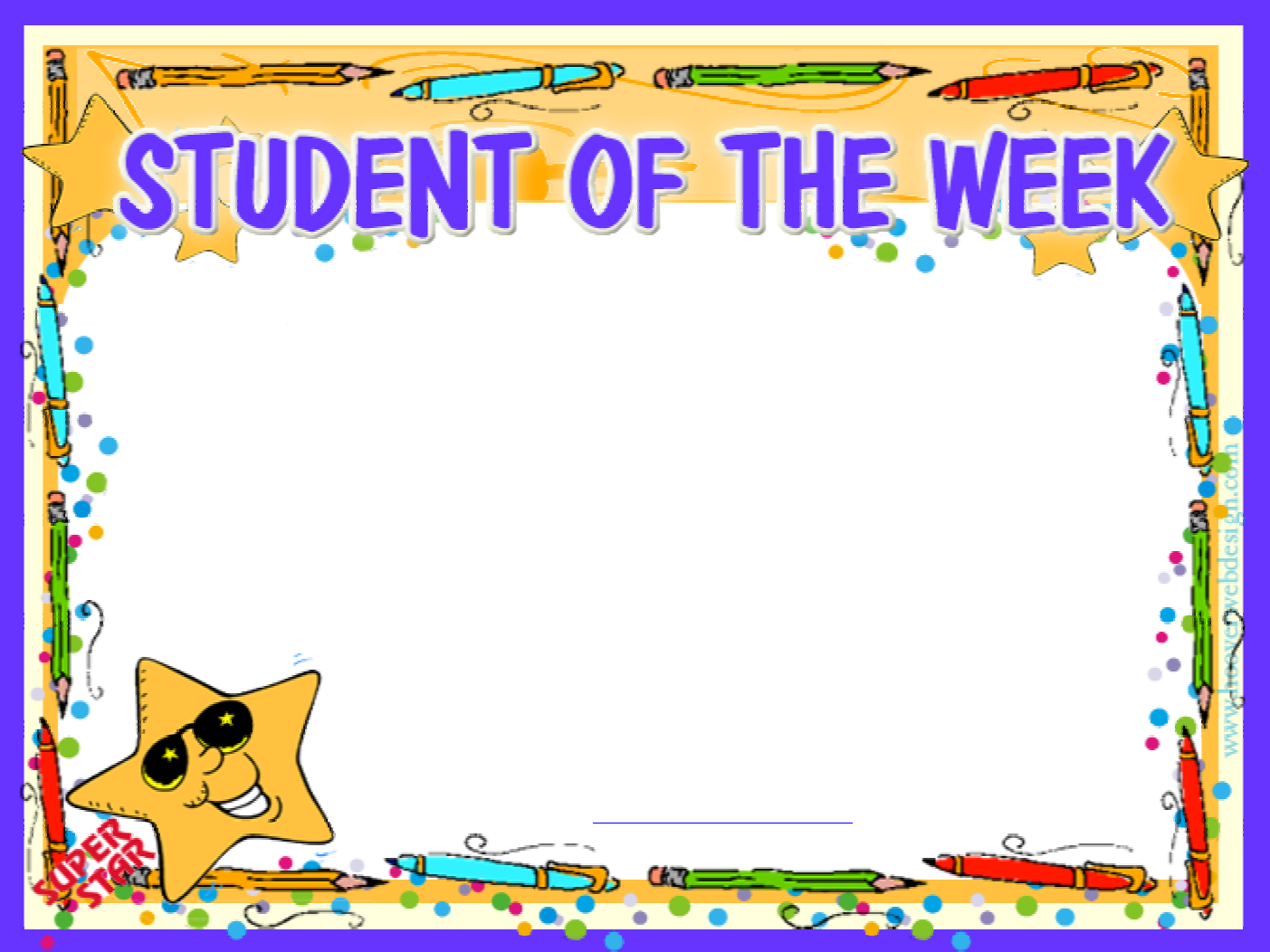 Download Prinable Student Of The Week Certificate For Free