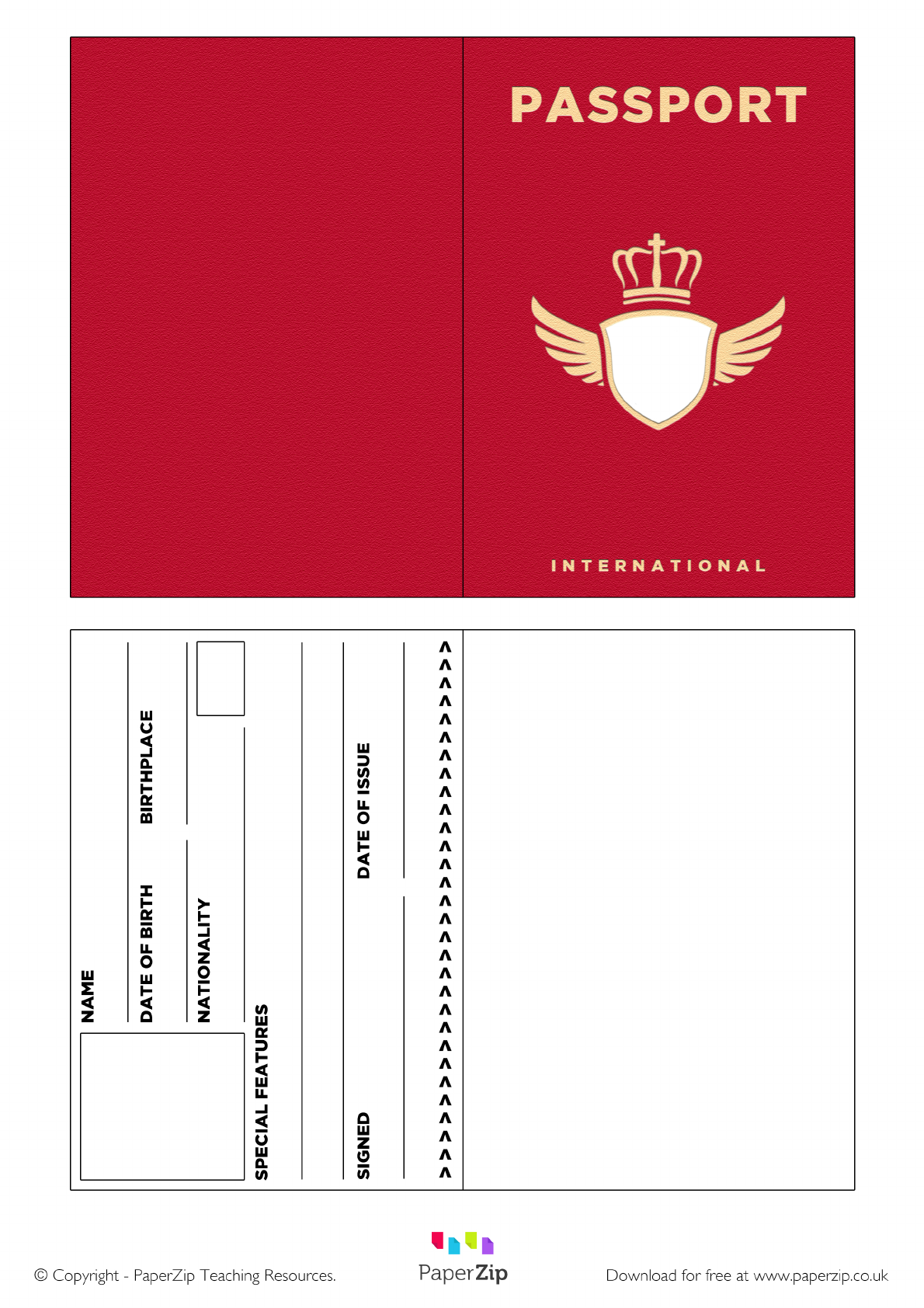 Download Red Passport Template For Free Tidytemplates