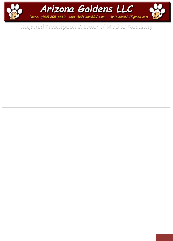 download sample doctor note for service dog pdf printable