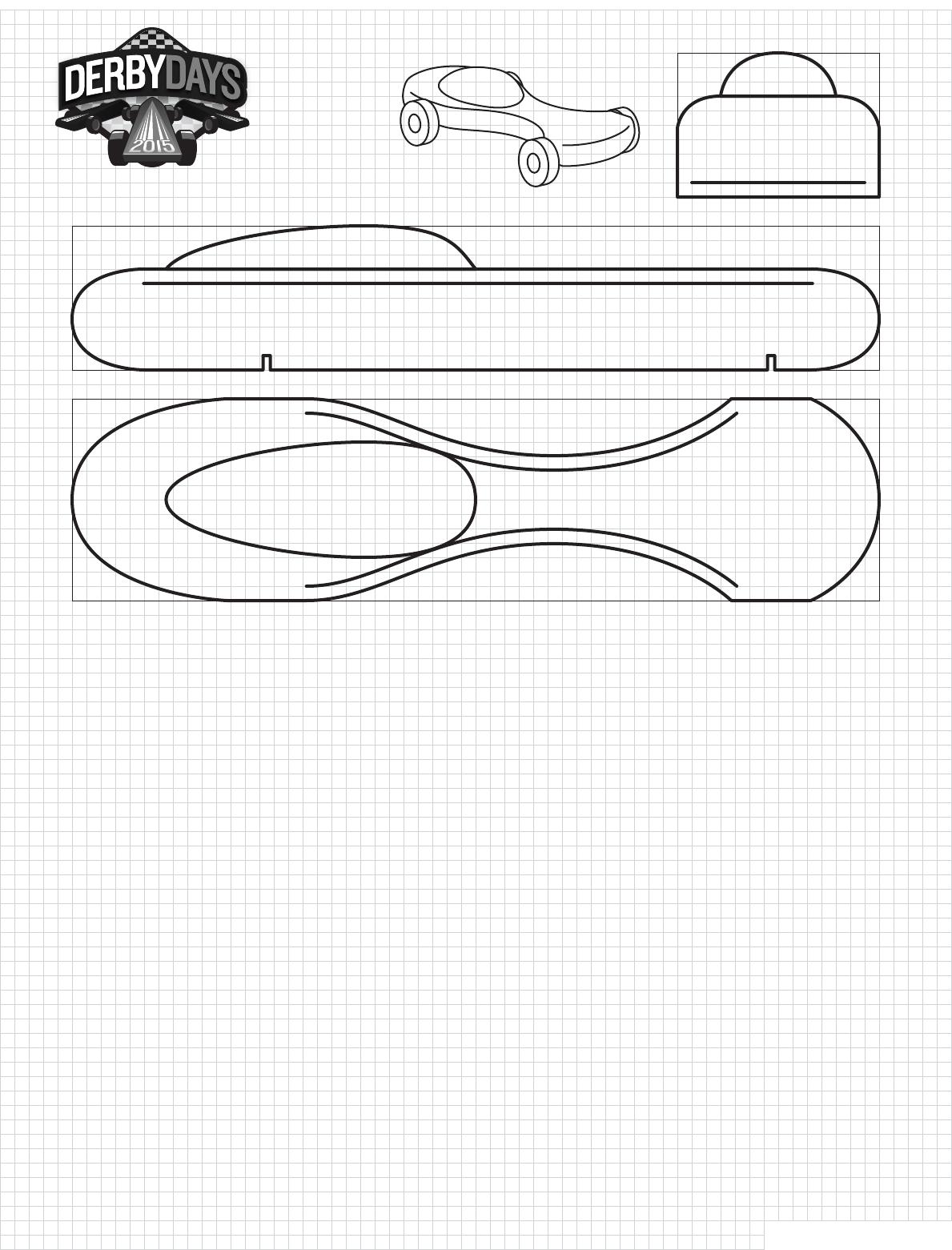 Screamer Derby Days Car Template PDF Printable