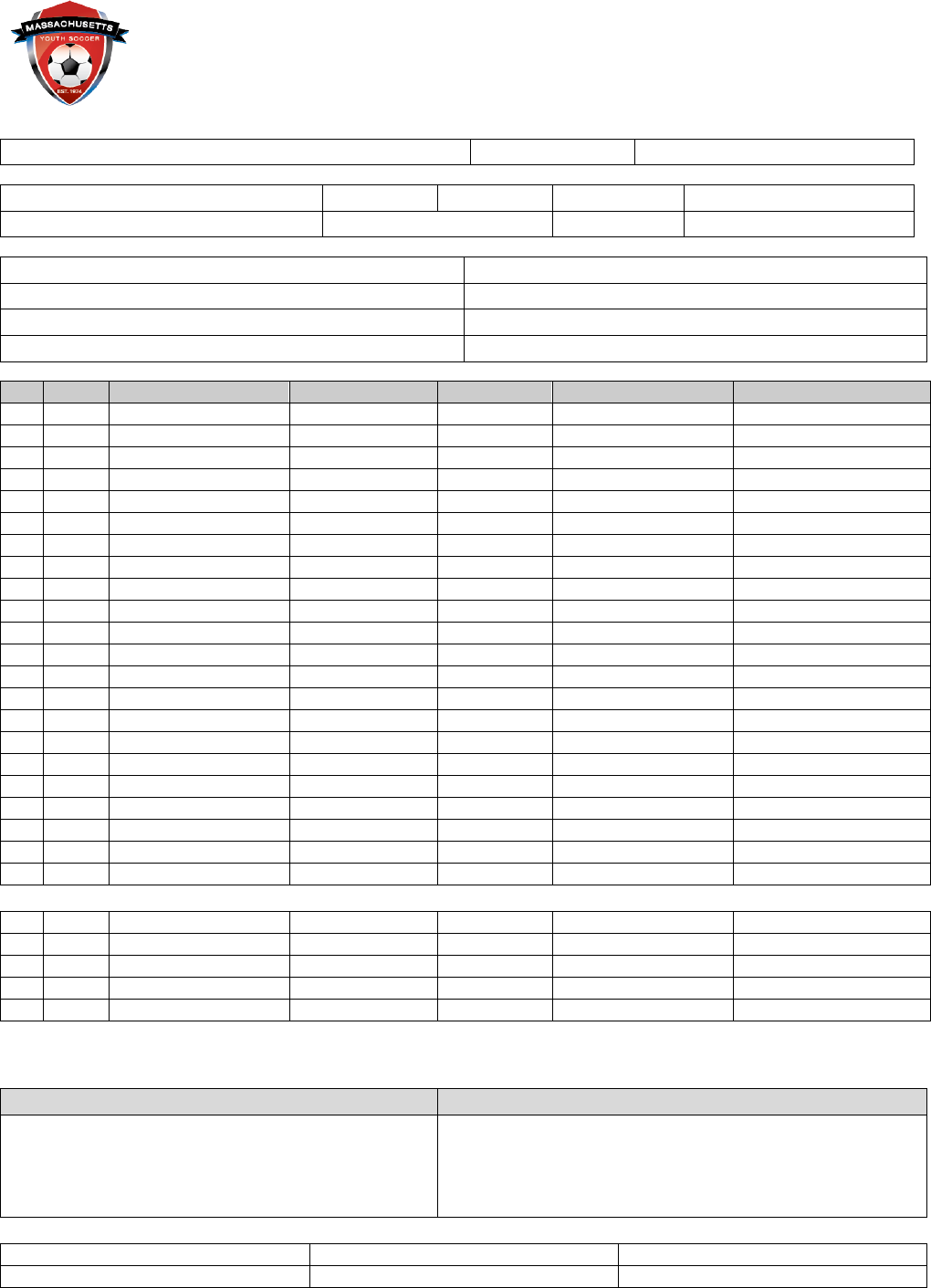 download soccer team roster template for free tidytemplates