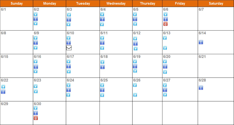 Download Social Media Editorial Calendar Template For Free