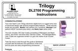 Programming Instructions Manual Sample