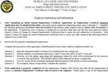 Employment Certificates