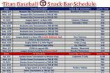 Snack Schedule Templates