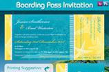 Boarding Pass Invitation Templates