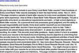 Bank Teller Resume Templates