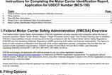 MCS 150 Form