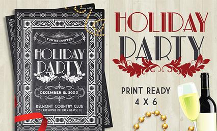 Holiday Party Flyer Templates