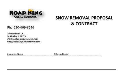 Snow Plowing Contract Templates
