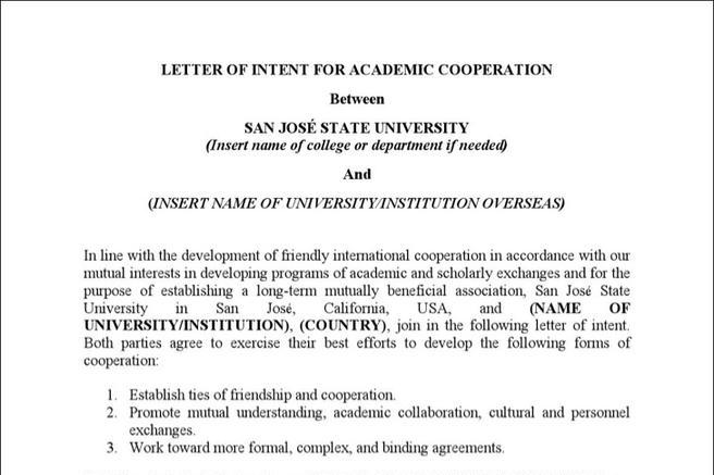 Sample Letter Of Intent To Join An Association