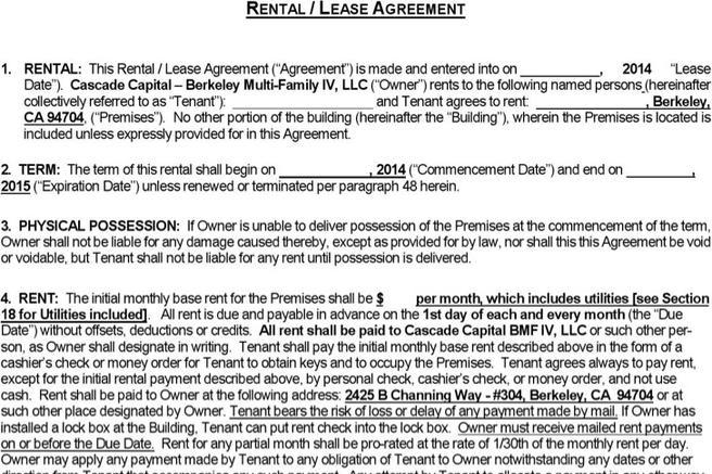 9 Rental Agreement Templates Free Download