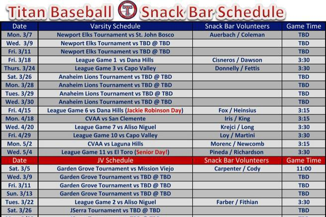 7+ Snack Schedule Templates Free Download