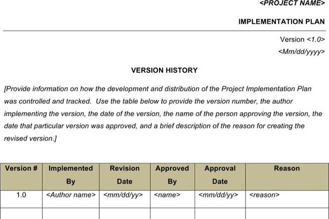 6  sample project implementation plan templates free download