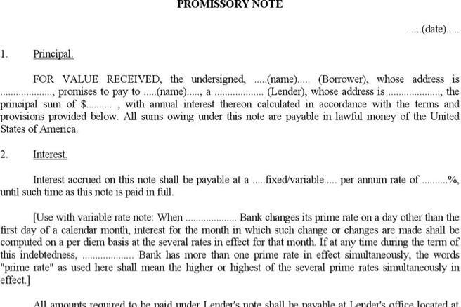 38 promissory note templates free download friedricerecipe Choice Image