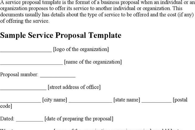 8 service proposal templates free download accmission Image collections