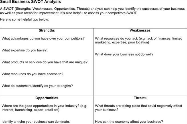 8 swot analysis templates free download friedricerecipe Image collections
