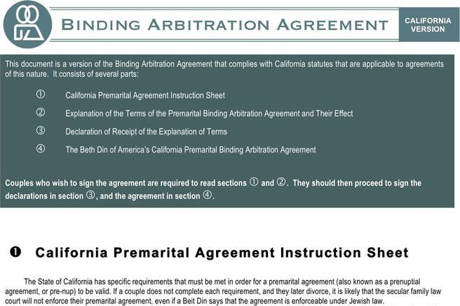 1 Texas Prenuptial Agreement Sample Free Download