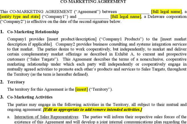 7+ Marketing Agreement Template Free Download