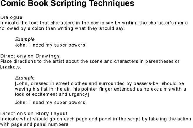 Download script writing templates for free tidytemplates for Comic book script template