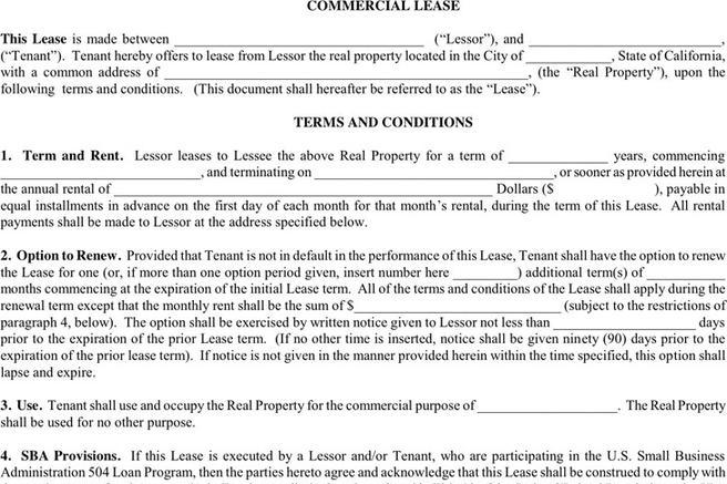 Download Commercial Lease Agreement For Free Tidytemplates