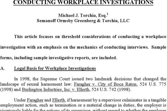 2 workplace investigation report templates free download. Black Bedroom Furniture Sets. Home Design Ideas