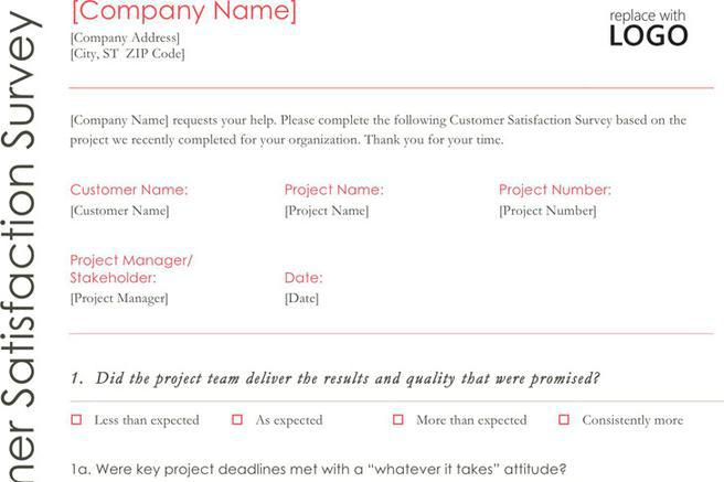 4 Customer Survey Template Free Download