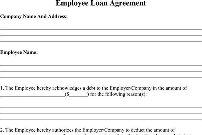 3 Employee Loan Agreement Free Download