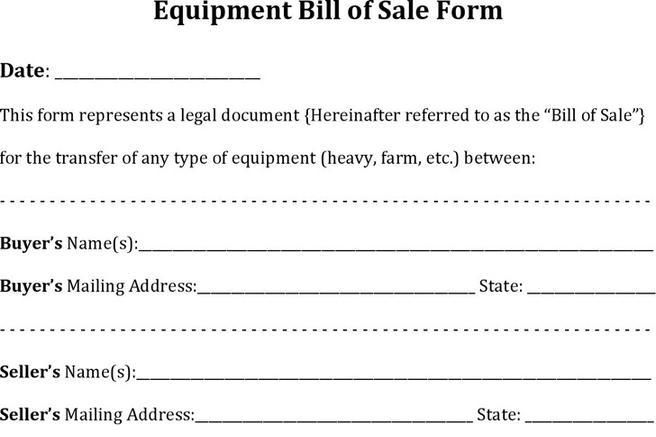248 Bill Of Sale Form Free Download