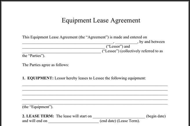 Equipment Lease Agreement | Download Free U0026 Premium Templates, Forms U0026  Samples For JPEG, PNG, PDF, Word And Excel Formats