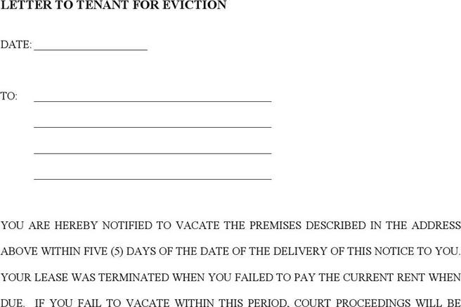 eviction notice template nc - 577 rent and lease template free download