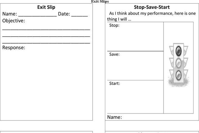 download exit ticket template for free tidytemplates. Black Bedroom Furniture Sets. Home Design Ideas