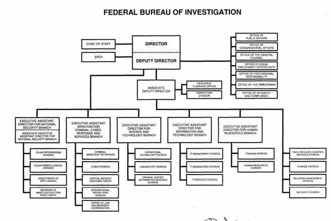 3  fbi organizational chart free download