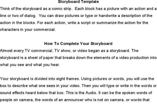 tvc storyboard template - Emayti australianuniversities co