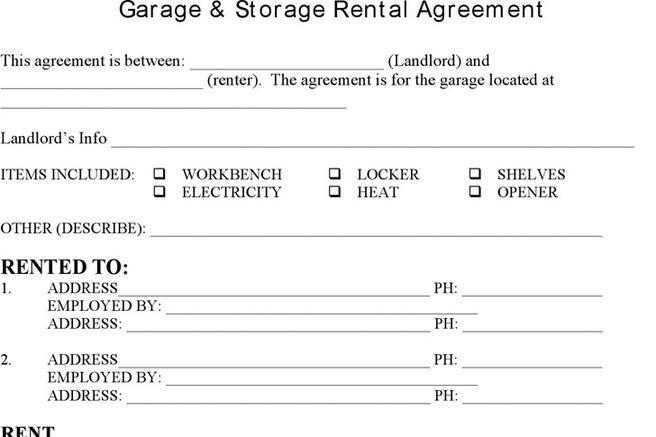 3  storage rental template free download