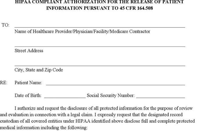 3 generic medical records release form free download