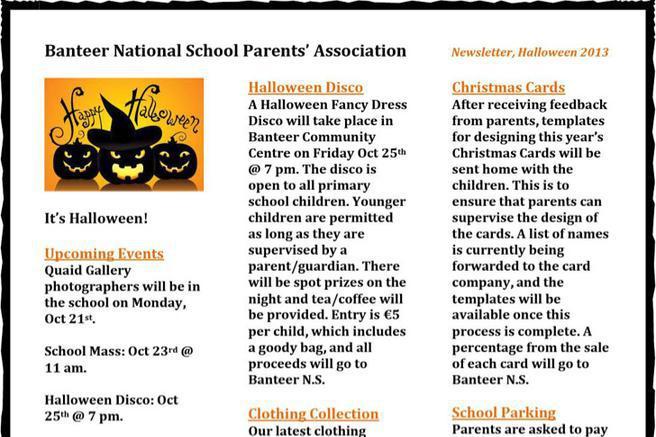 3 halloween newsletter template free download