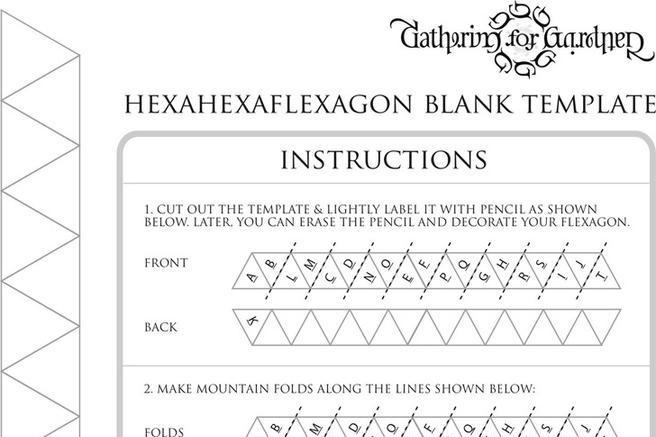 Download Hexaflexagon Template for Free - TidyTemplates